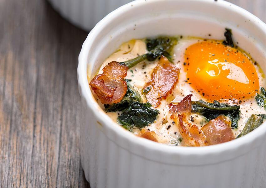 bakt egg i kopp airfryer oppskrifter