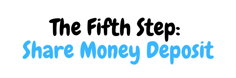 Share Money Deposit