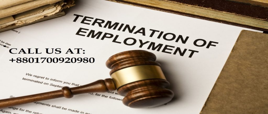 Termination of  Employment paper and a number