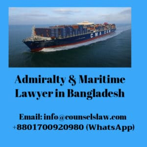 Admiralty and Maritime Lawyer contact number and a ship