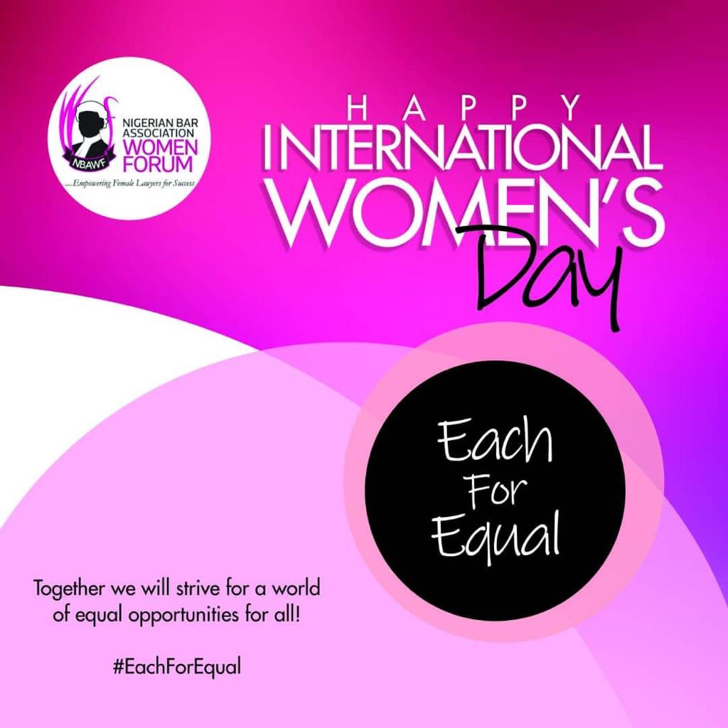 The Women Forum of the Nigerian Bar Association Celebrates the International Women's Day 2020