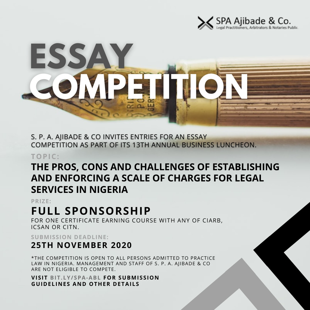 8 DAYS TO GO! The SPA Ajibade & Co. Essay Competition