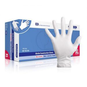 Klinion Soft Nitril handschoen poedervrij extra large, doos 150 stuks, wit