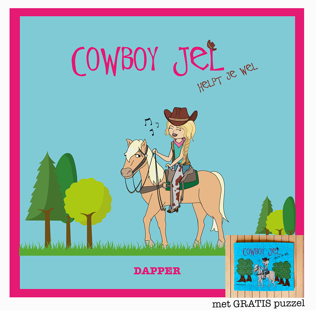 Cowboy Jel Boek + Gratis Puzzel