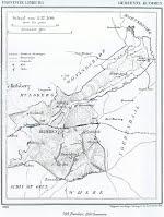 Een kaartje uit 1866 van de gemeente Craubekerhof jaren 50 vorige eeuw
