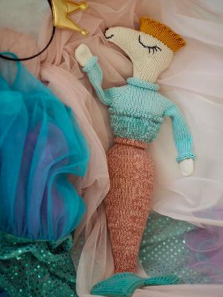 strikketbamse opskrift havfrue