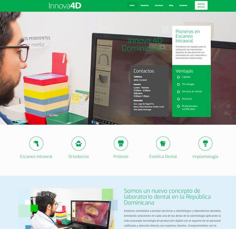 Diseño de Pagina web para Innova 4D