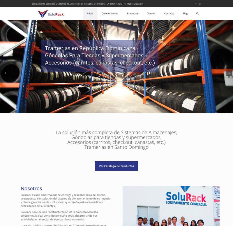 Diseño web en Santo Domingo Tramerias Solurack