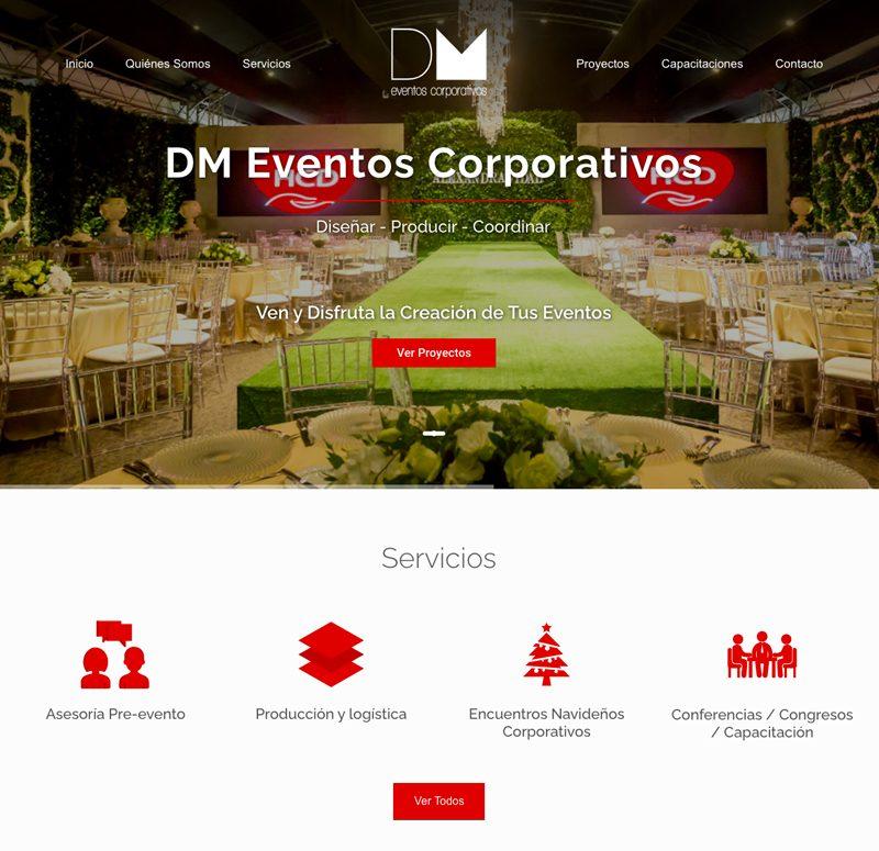 Diseño web para empresa de Eventos Corporativos en Santo Domingo