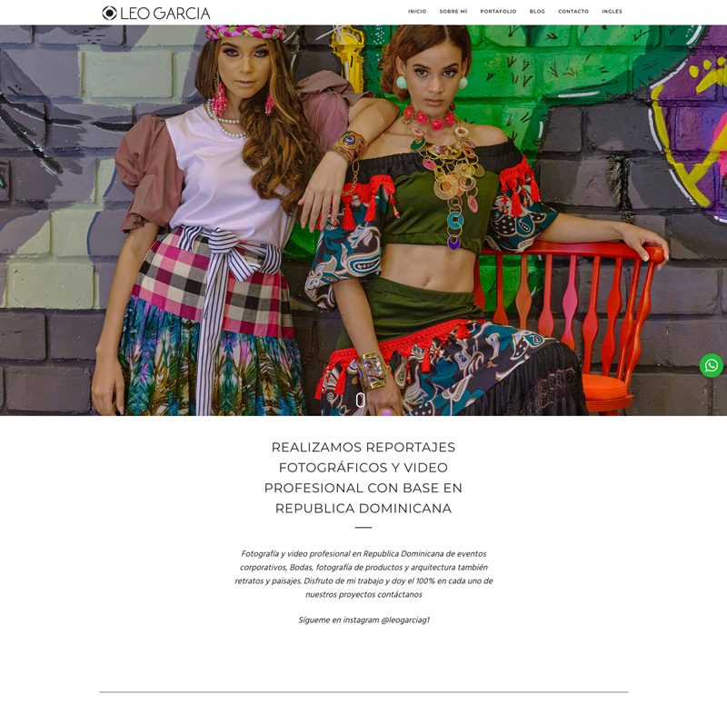 Pagina Web de Fotografia en Santo Domingo