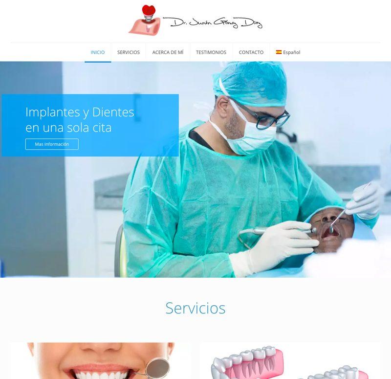 Pagina web Consultorio Dental en Santo Domingo