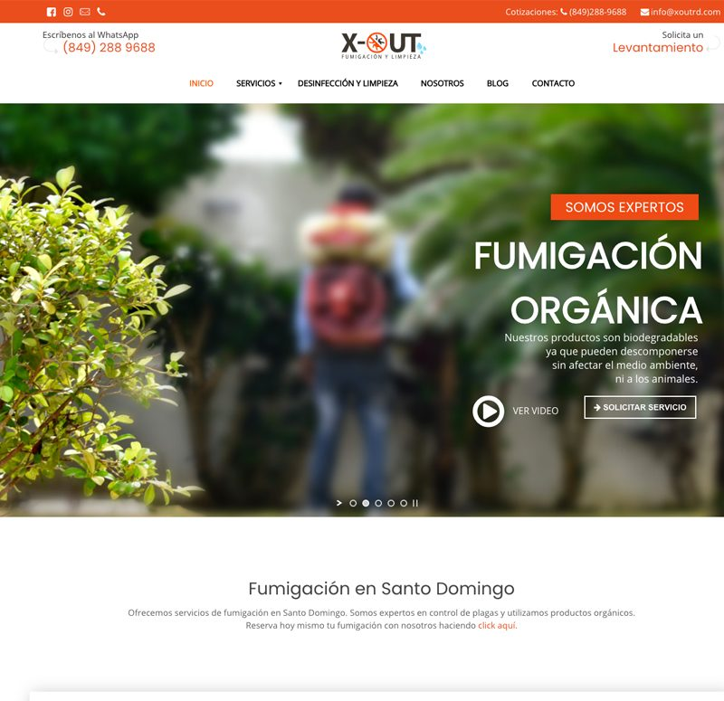 Pagina web de Control de Plagas en Punta Cana y Santo Domingo