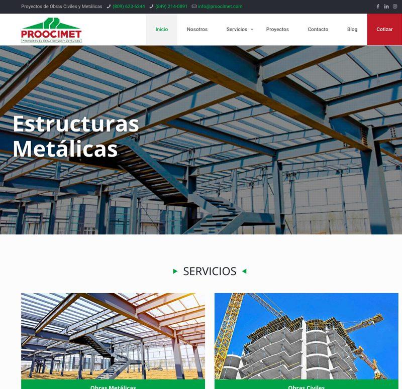 Proocimet Pagina web Corporativa DIseño y desarrollo