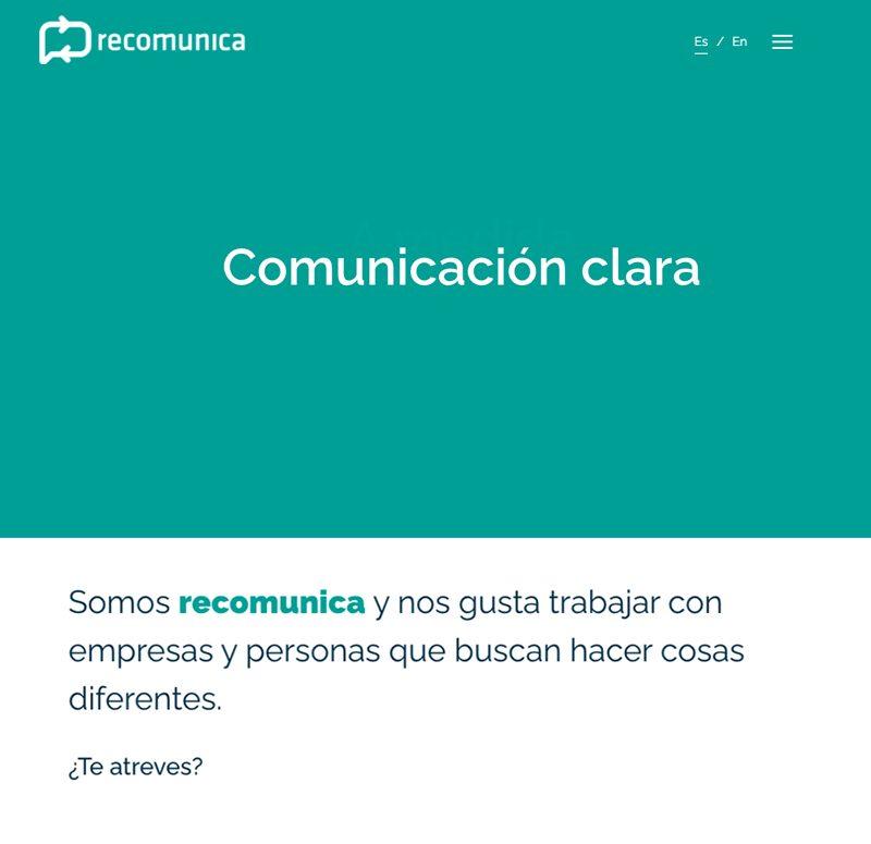 Recomunica Pagina Web Personalizada en España