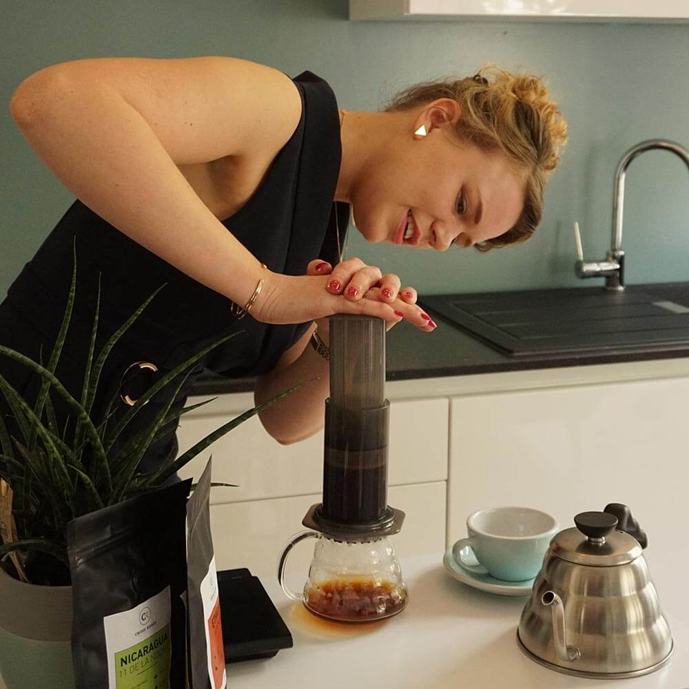 De traditionele Aeropress methode