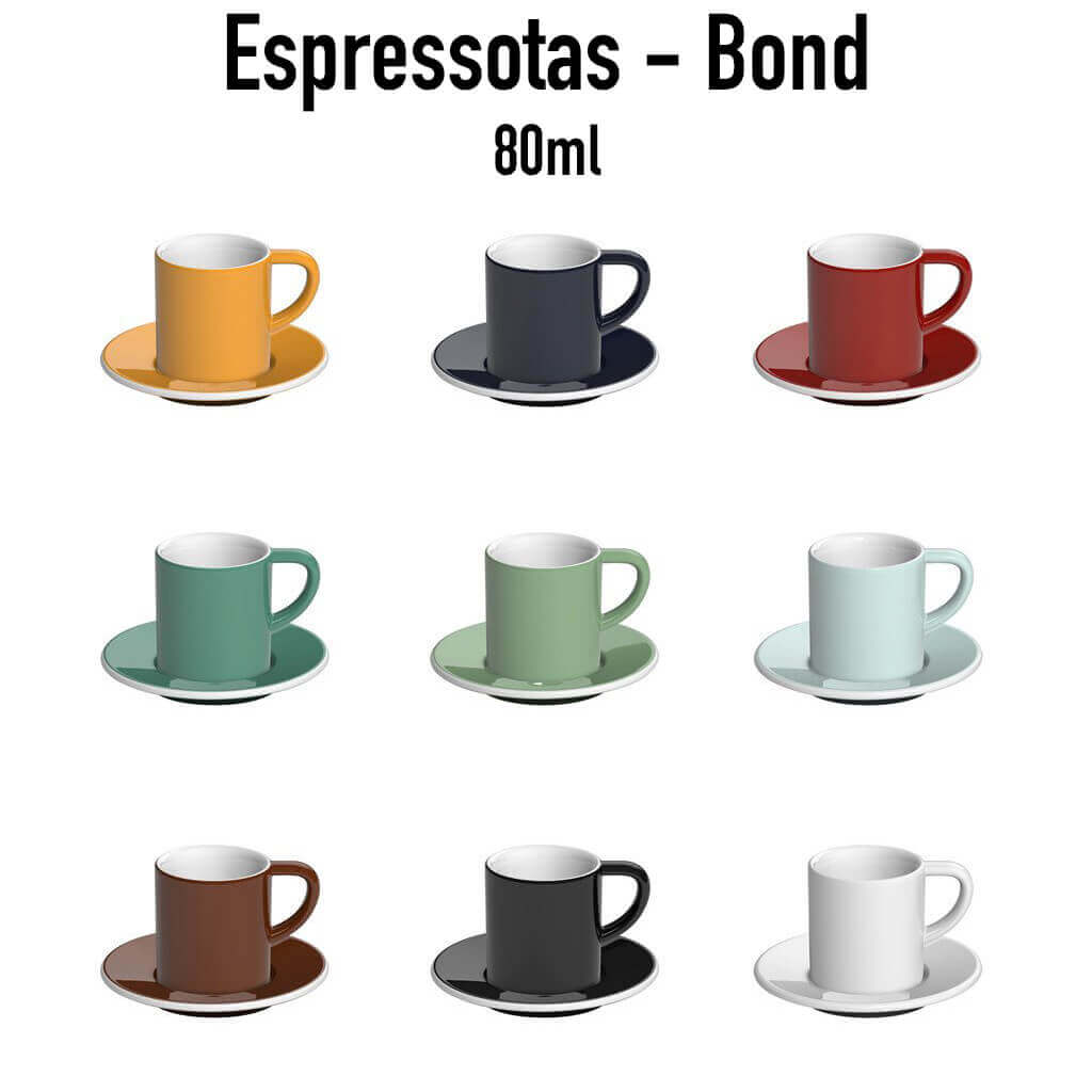 Loveramics - Espresso Cup met onderbord - Bond - 80ml