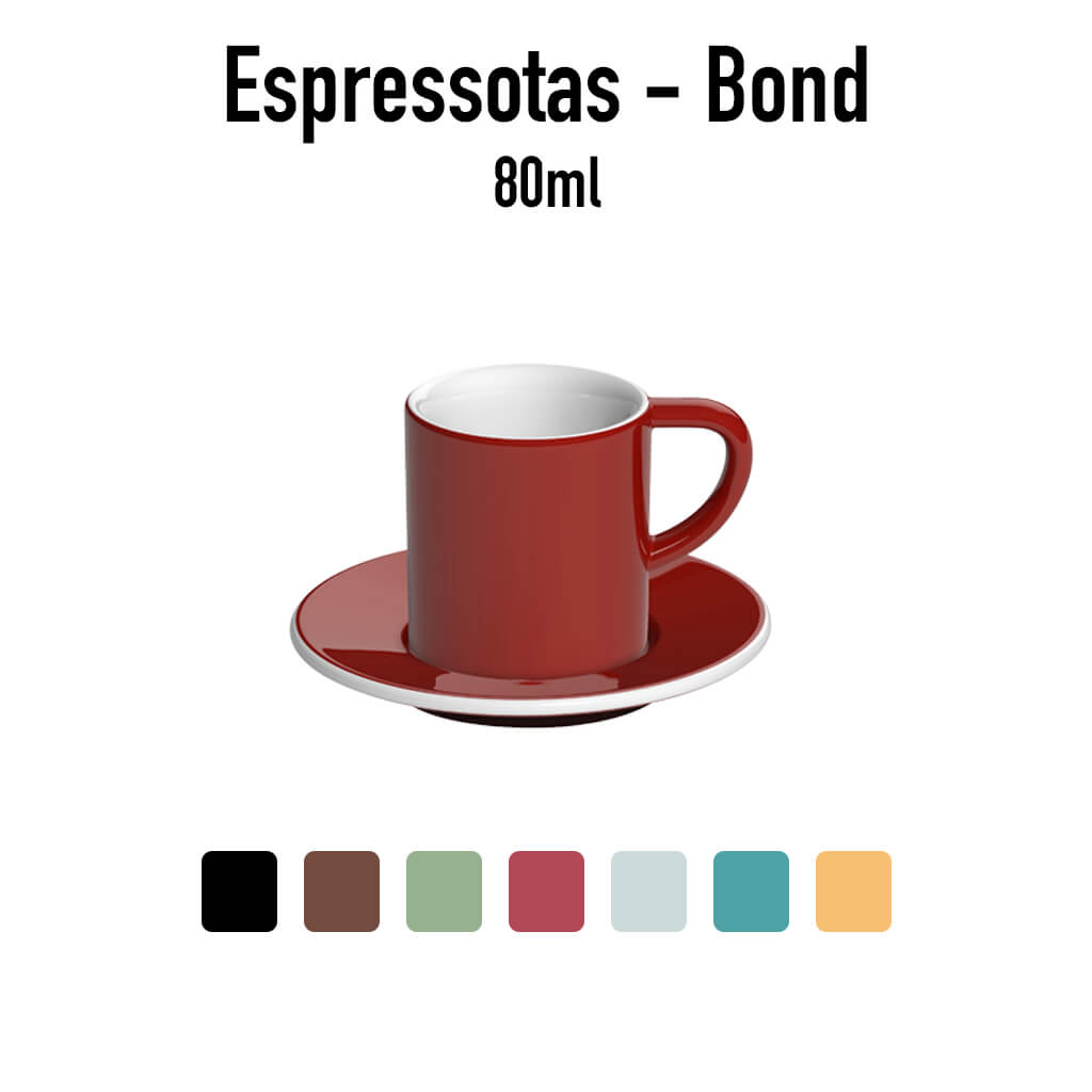 Loveramics - Espressotas met onderbord - Bond - 80ml