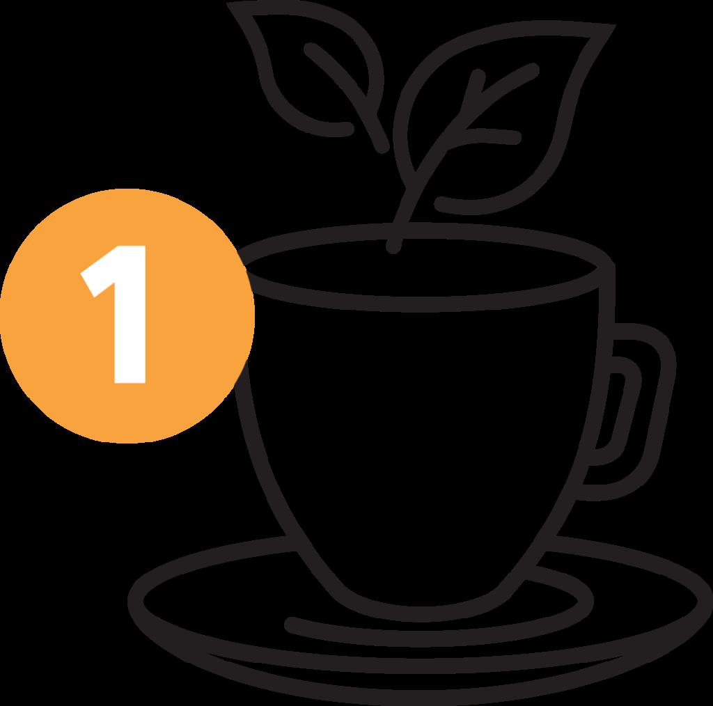 Songbird Tea Company - Earl Gray stap 1