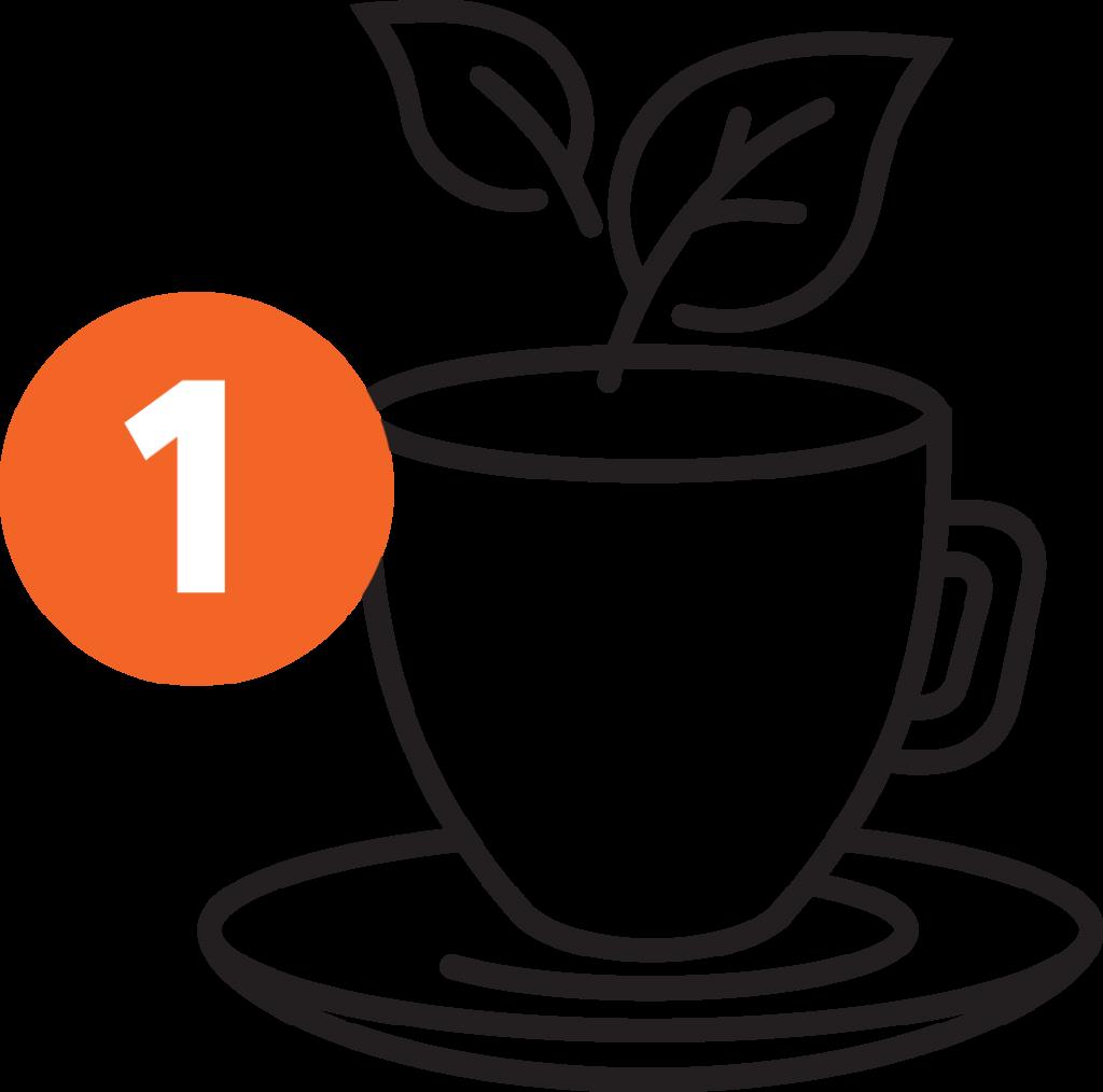 Songbird Tea Company - Orange - Stap 1