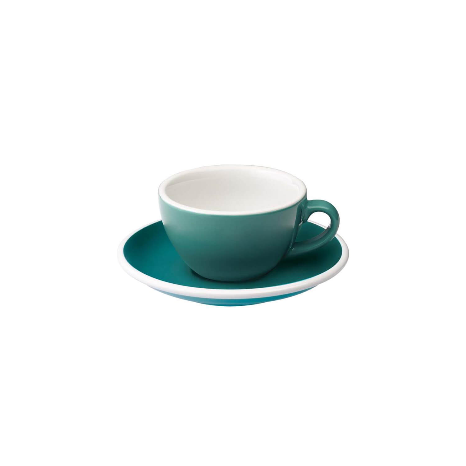 Loveramics - Egg - Flat White Cup - Teal
