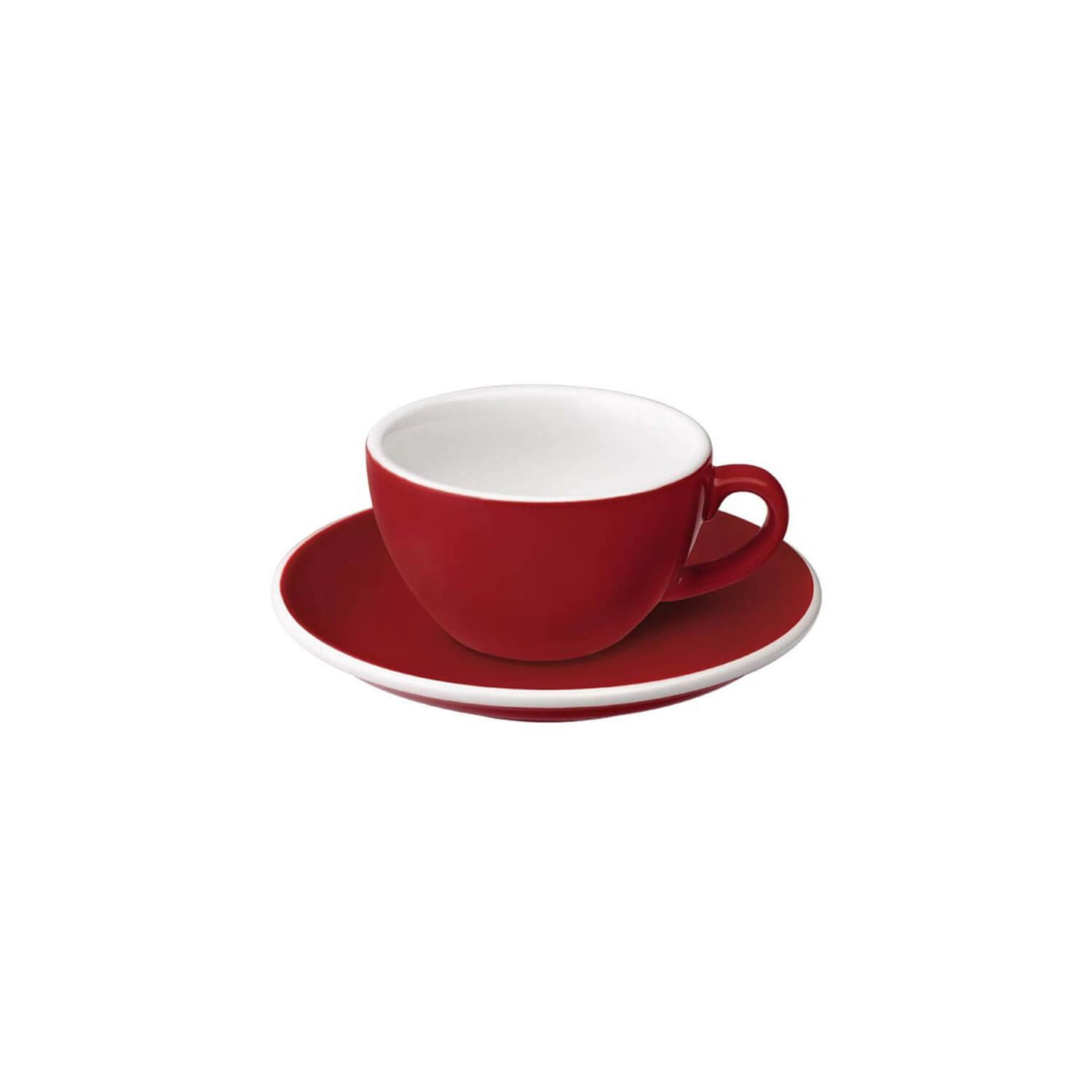 Loveramics - Egg - Flat White Cup - Rood