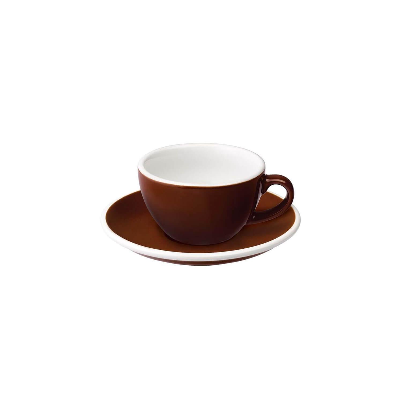 Loveramics - Egg - Flat White Cup - Bruin