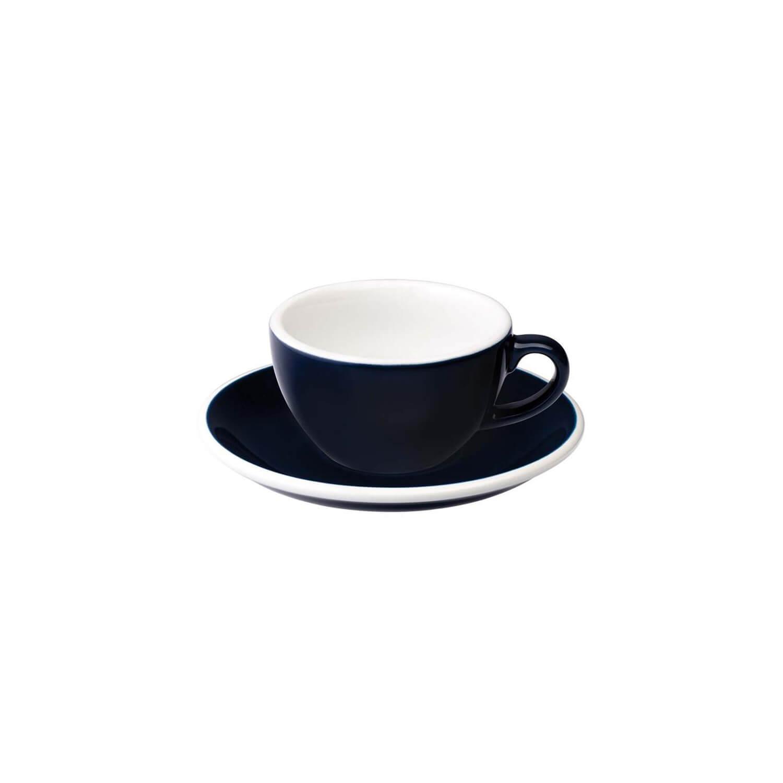 Loveramics - Egg - Flat White Cup - Denim