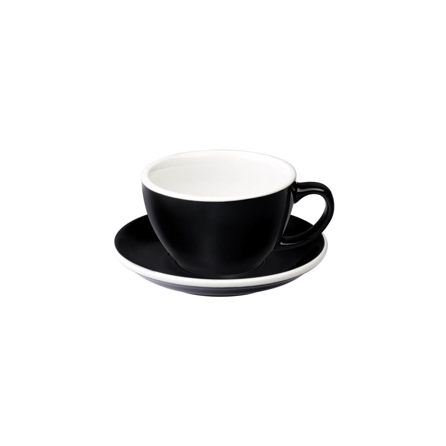 Loveramics - Egg - Latte Cup - Zwart