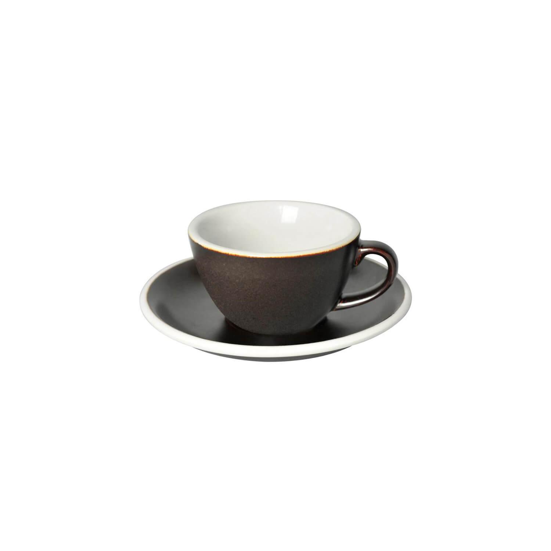 Loveramics - Egg - Flat White Cup - Gunpowder