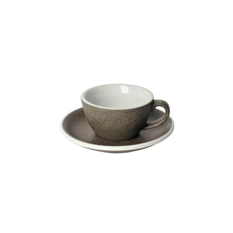 Loveramics - Egg - Flat White Cup - Granite