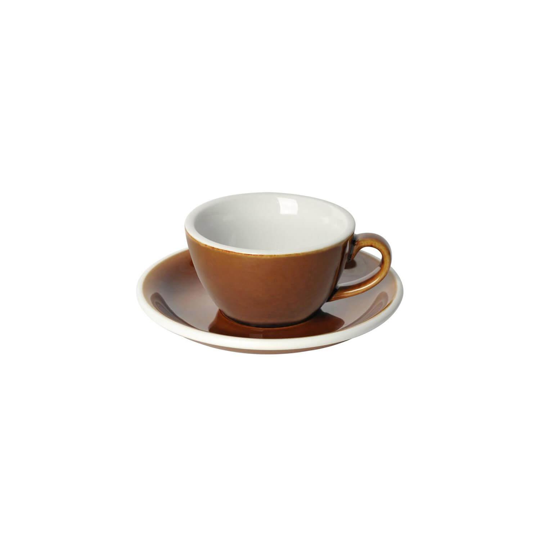 Loveramics - Egg - Flat White Cup - Caramel
