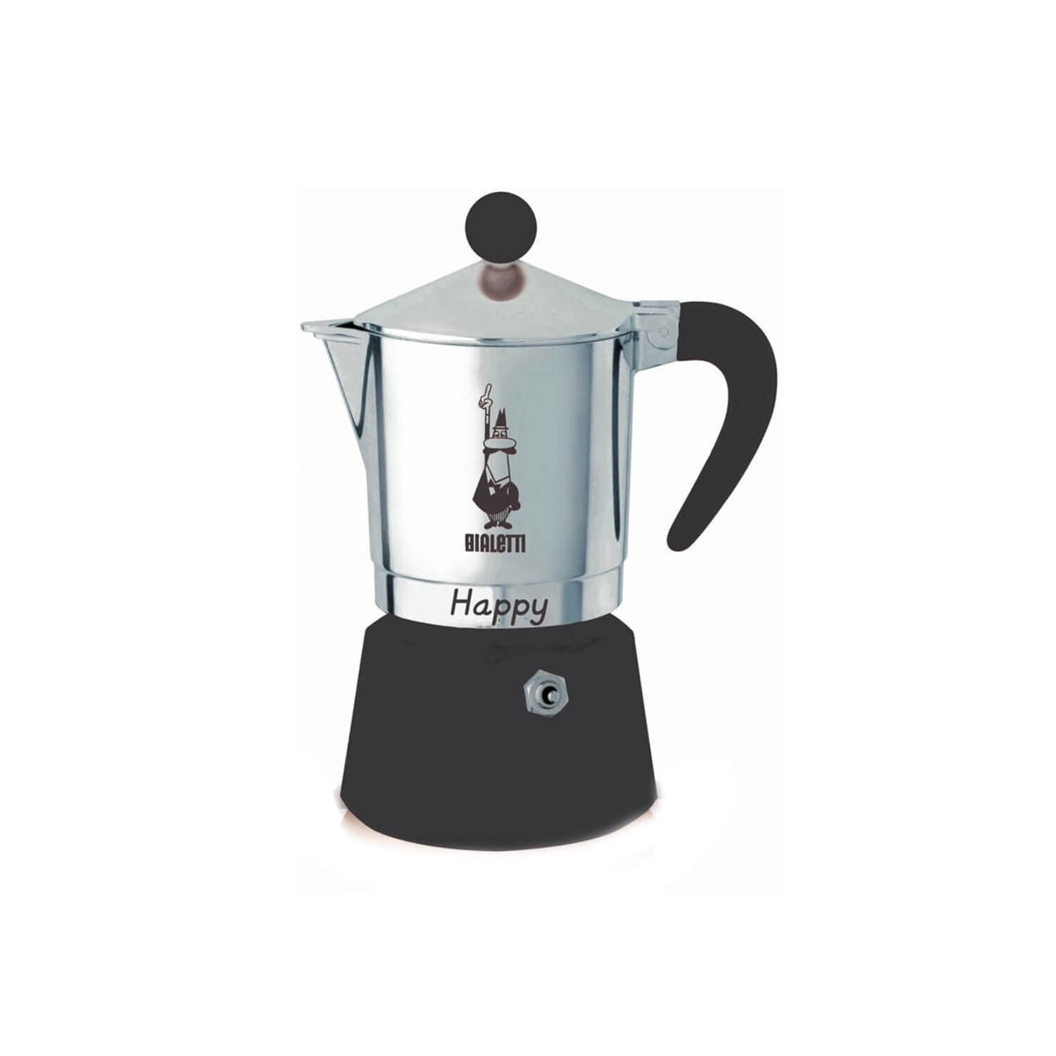 Bialetti – Happy – Black – 1 Cup