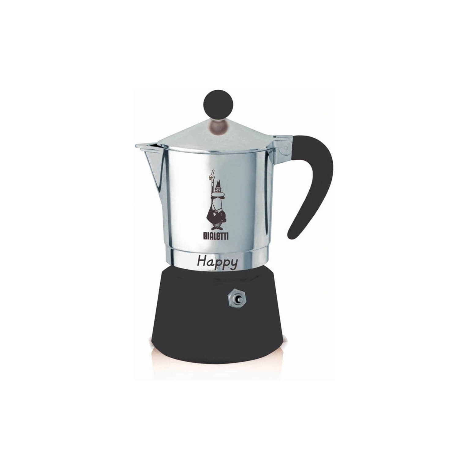 Bialetti – Happy – Black – 3 Cups