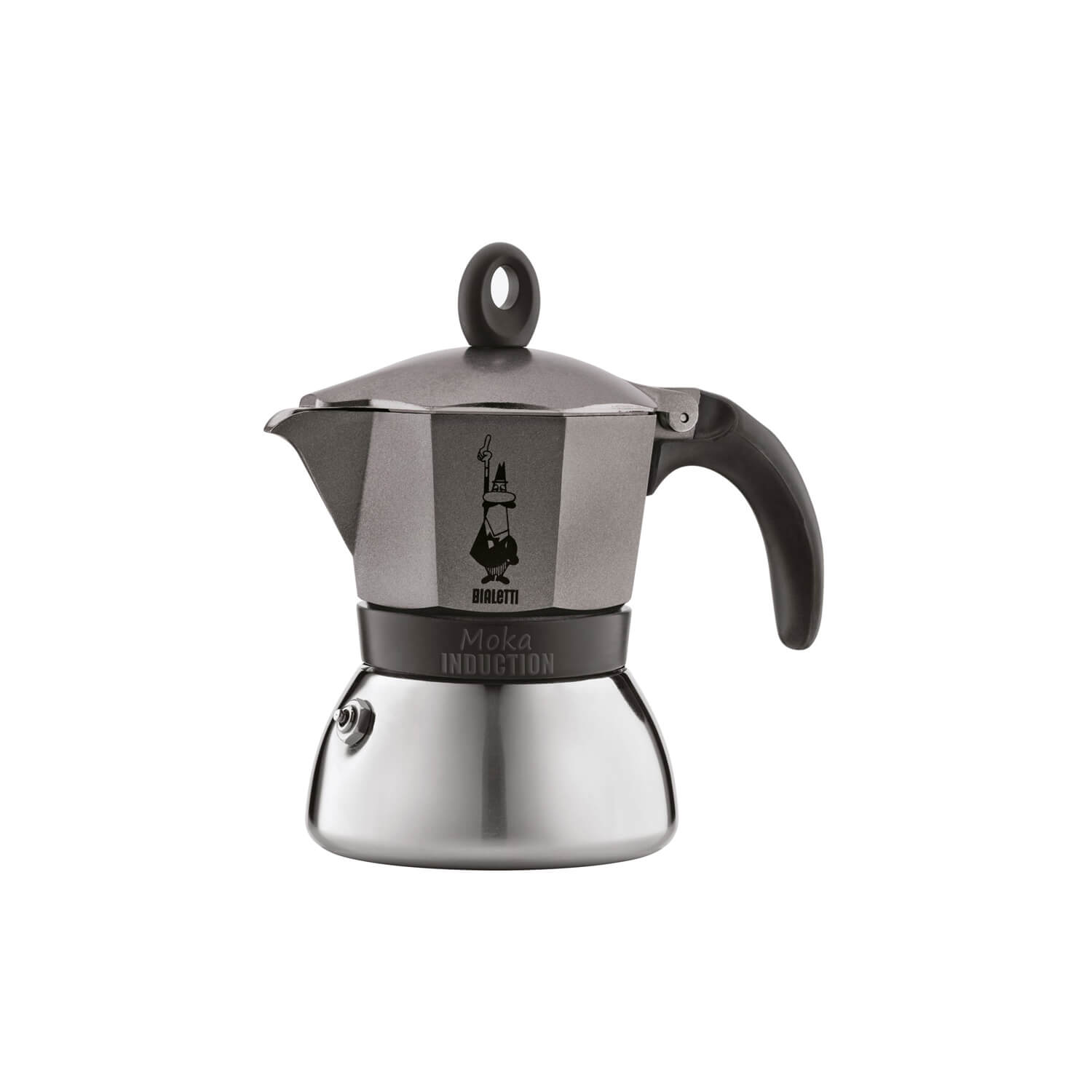 Bialetti – Moka Inductie – Grey – 3 Cups