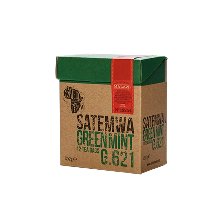 Theebuiltjes - Satemwa - Green Mint - 12 st