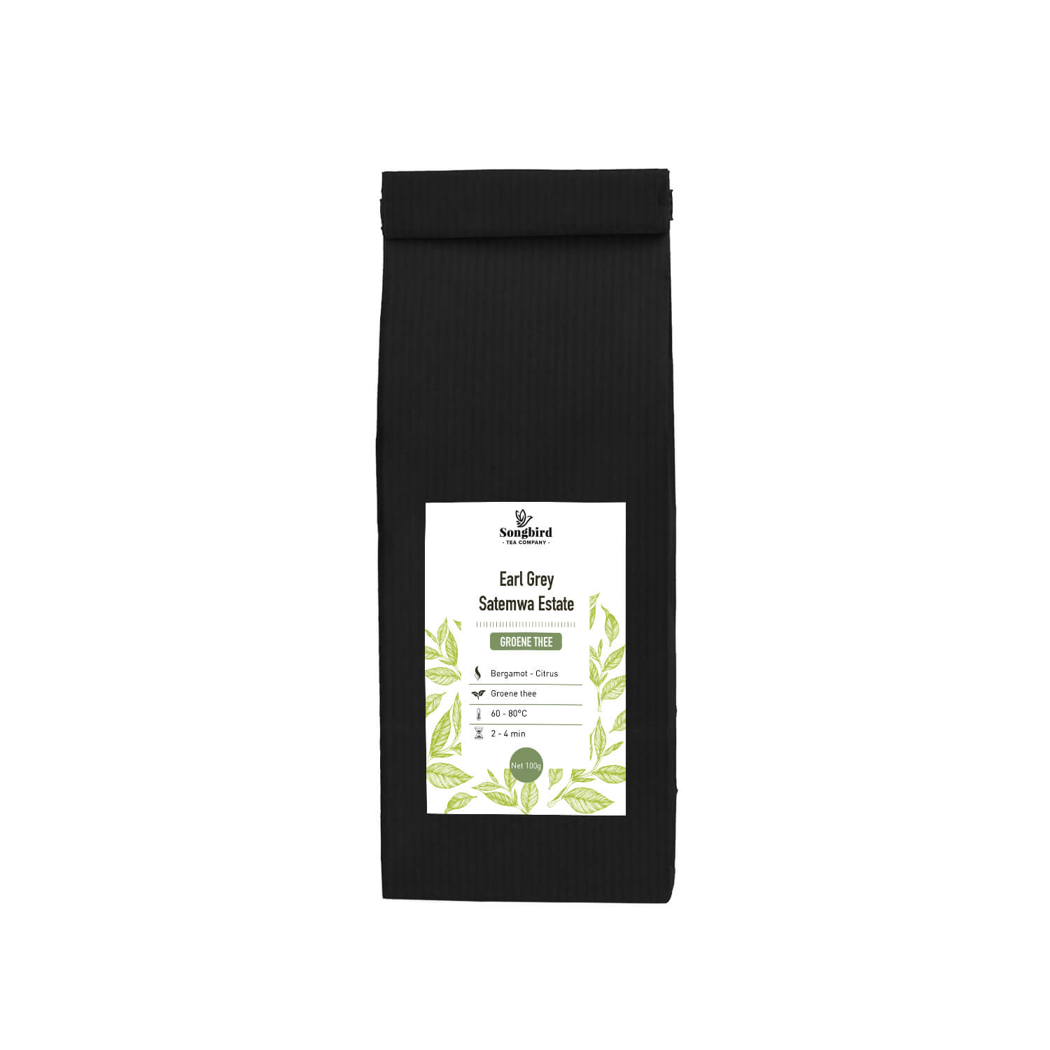 Groene thee - Earl grey green Satemwa - 100 gr