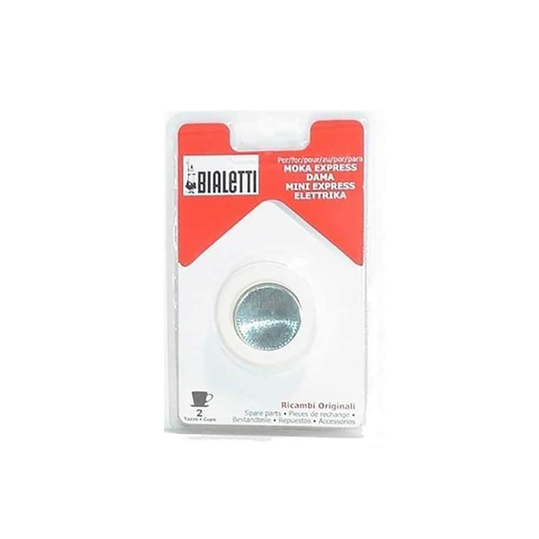 Bialetti - 3 rubber ringen + 1 filterplaatje - 2 Cups