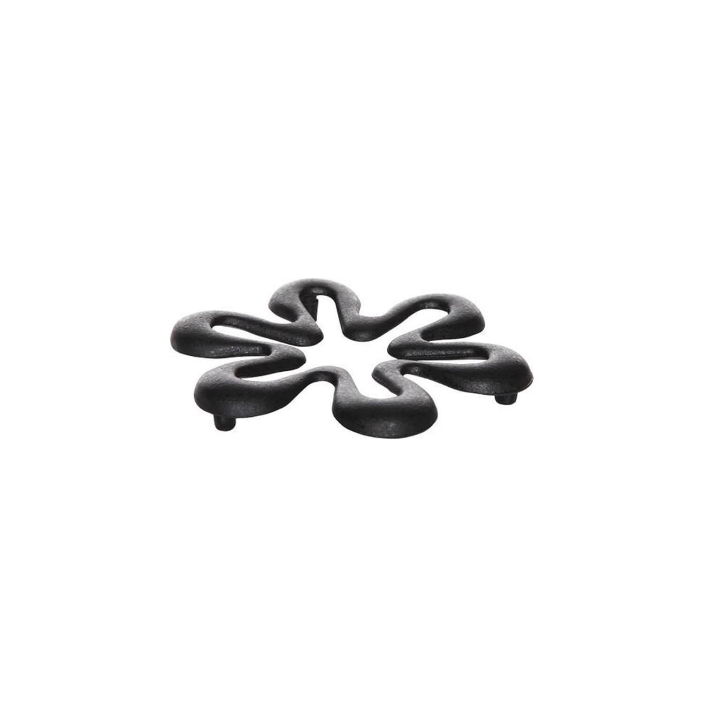 Onderzetter - Bloem Zwart