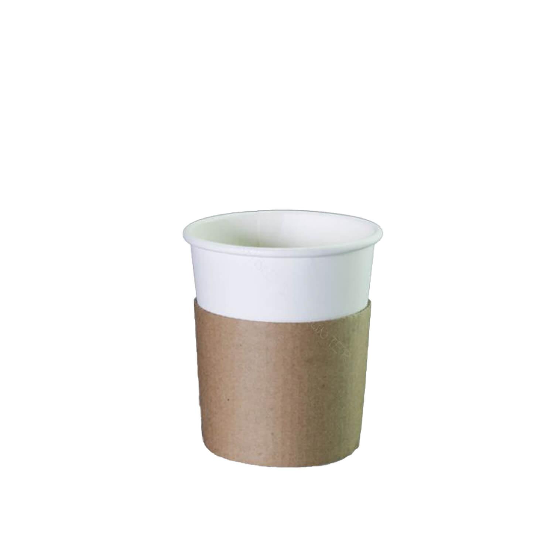 Sleeve - Kraft - Voor 240 ml koffiebeker - 1000 st