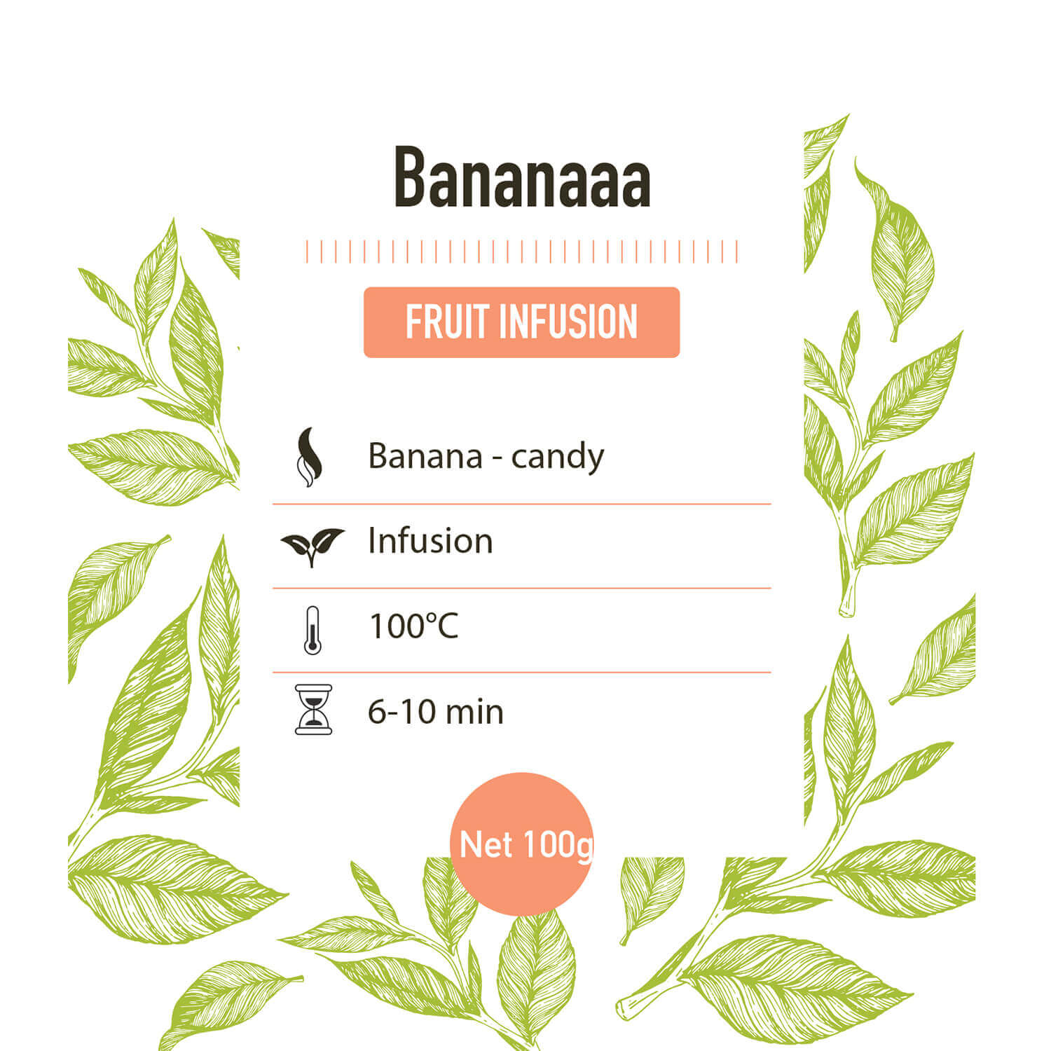 Fruit infusie – Bananaaa - detail