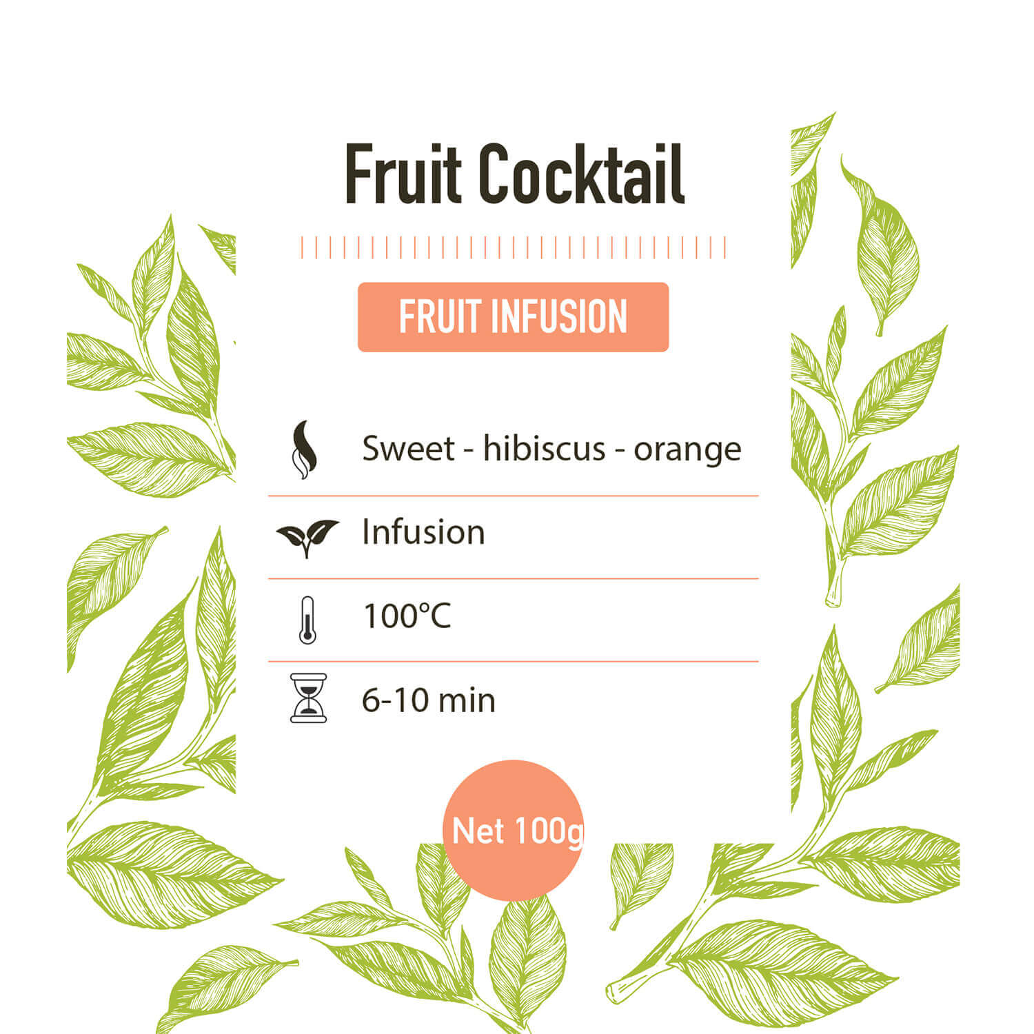 Fruit infusie – Fruit Cocktail - detail