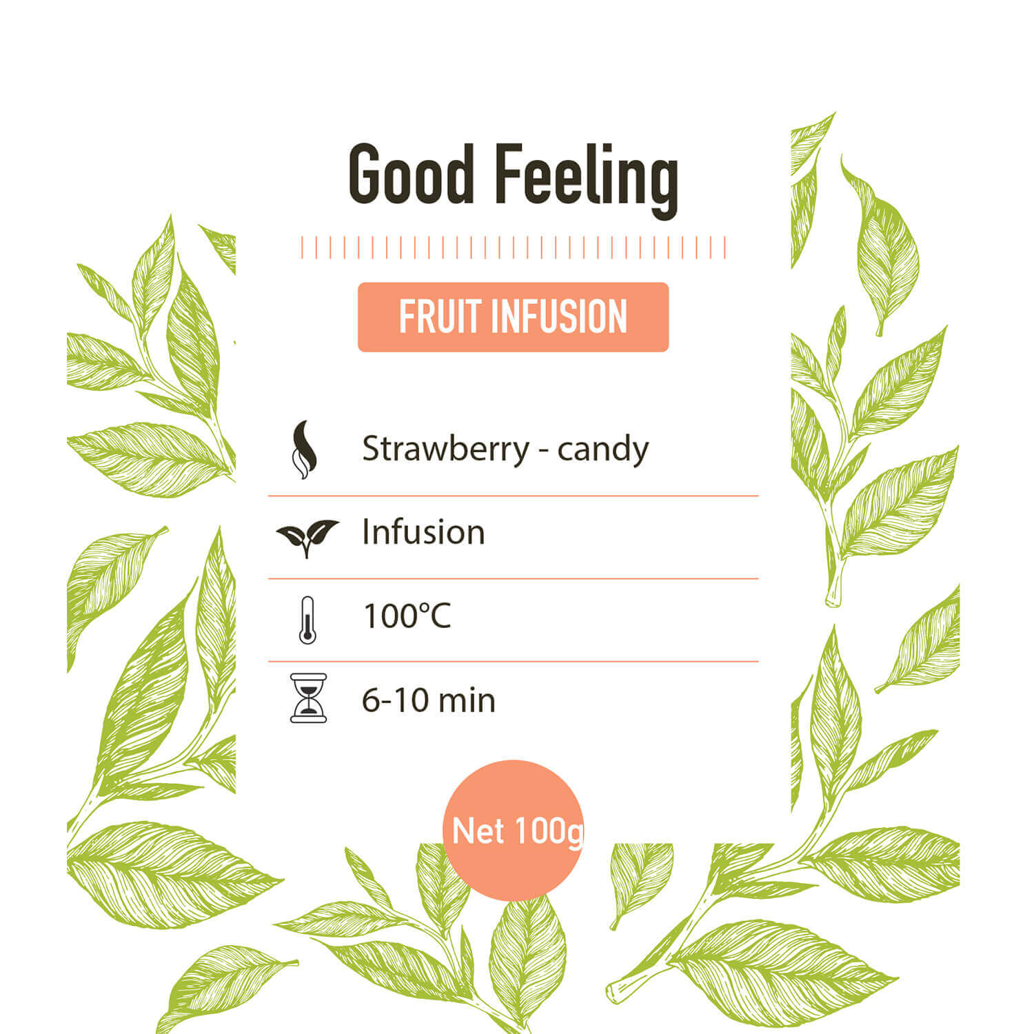 Fruit infusie – Good feeling - detail