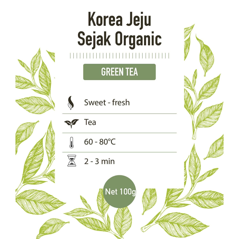 Groene thee – Korea Jeju Organic - detail