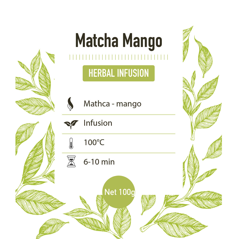 Groene thee – Matcha mango - detail