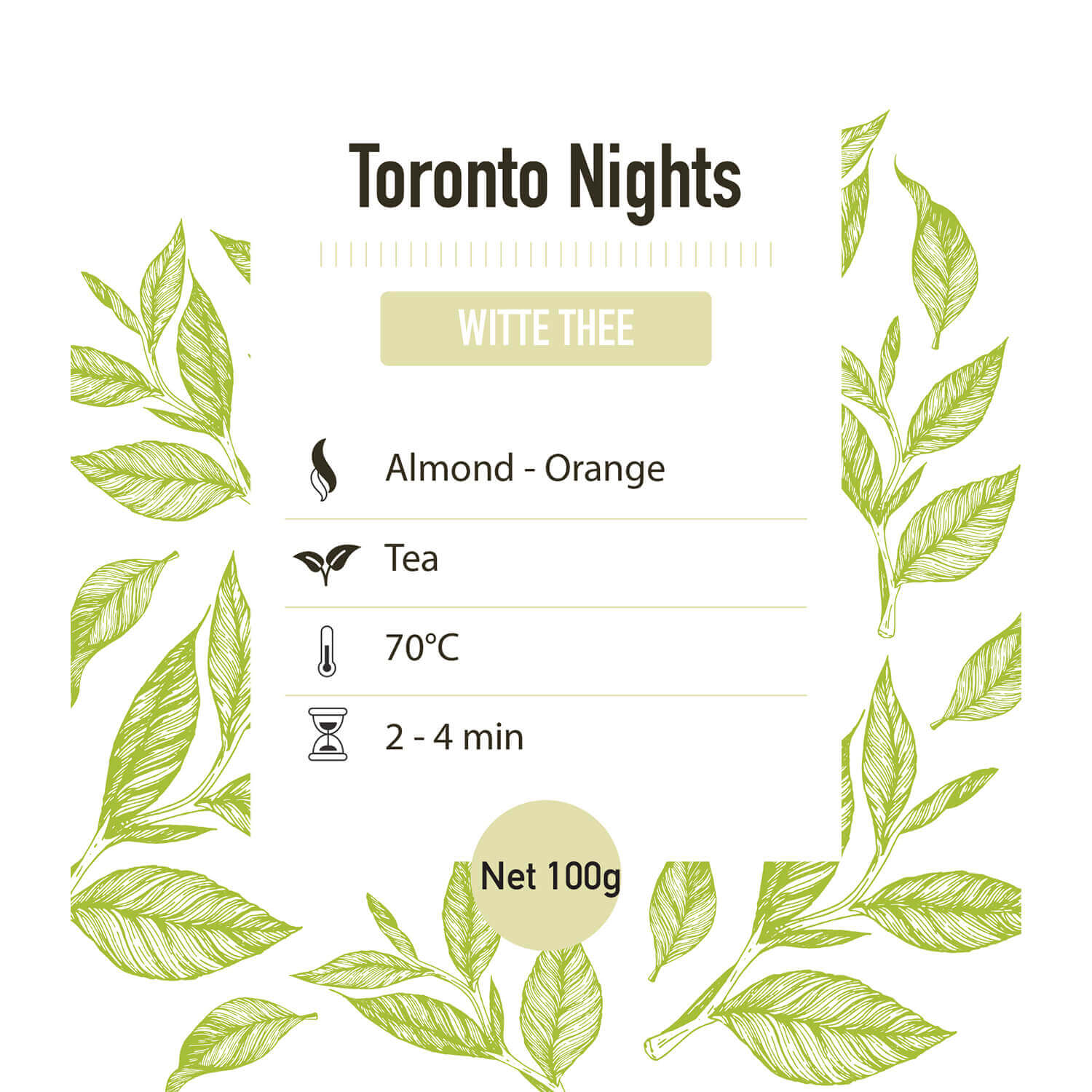 Witte thee – Toronto Nights