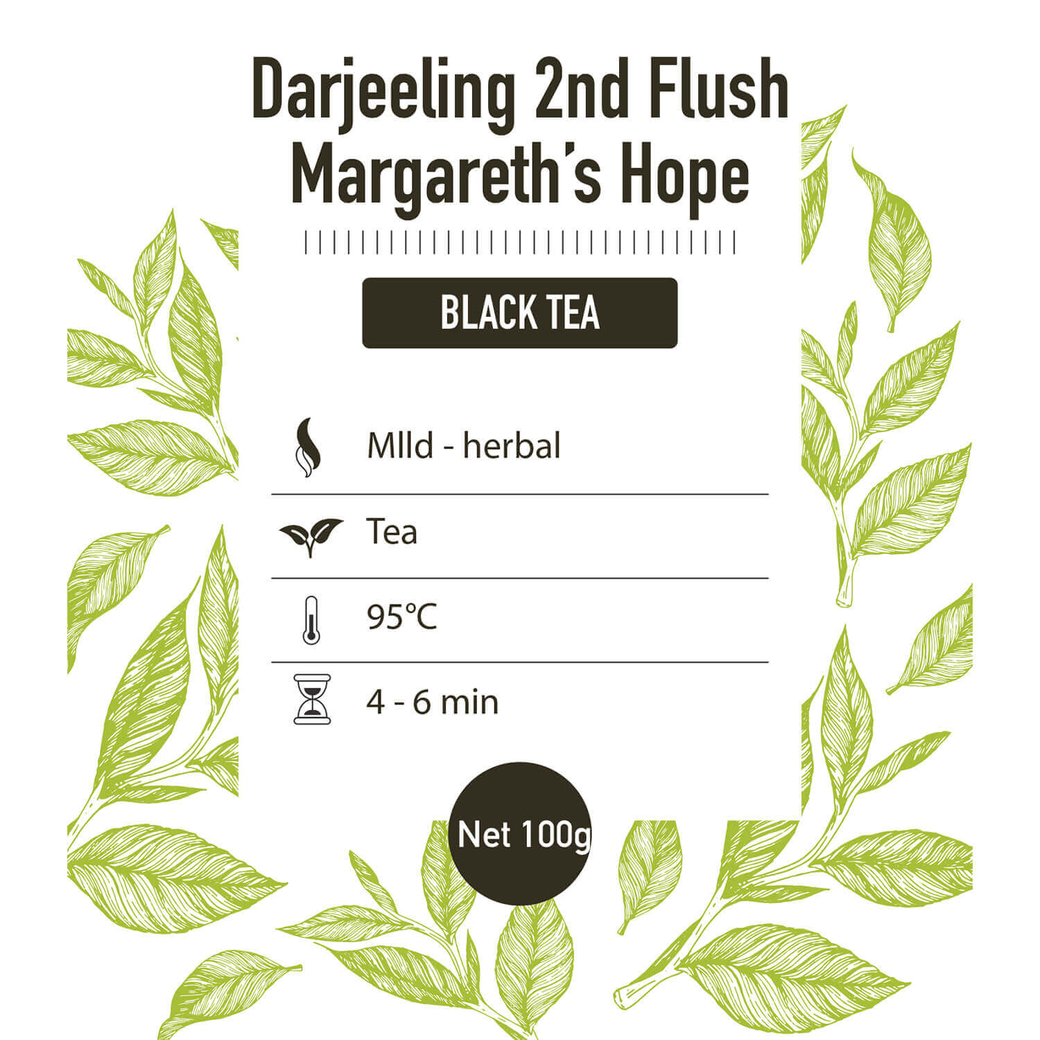 Zwarte thee – Darjeeling 2nd flush Margeret Hope - detail