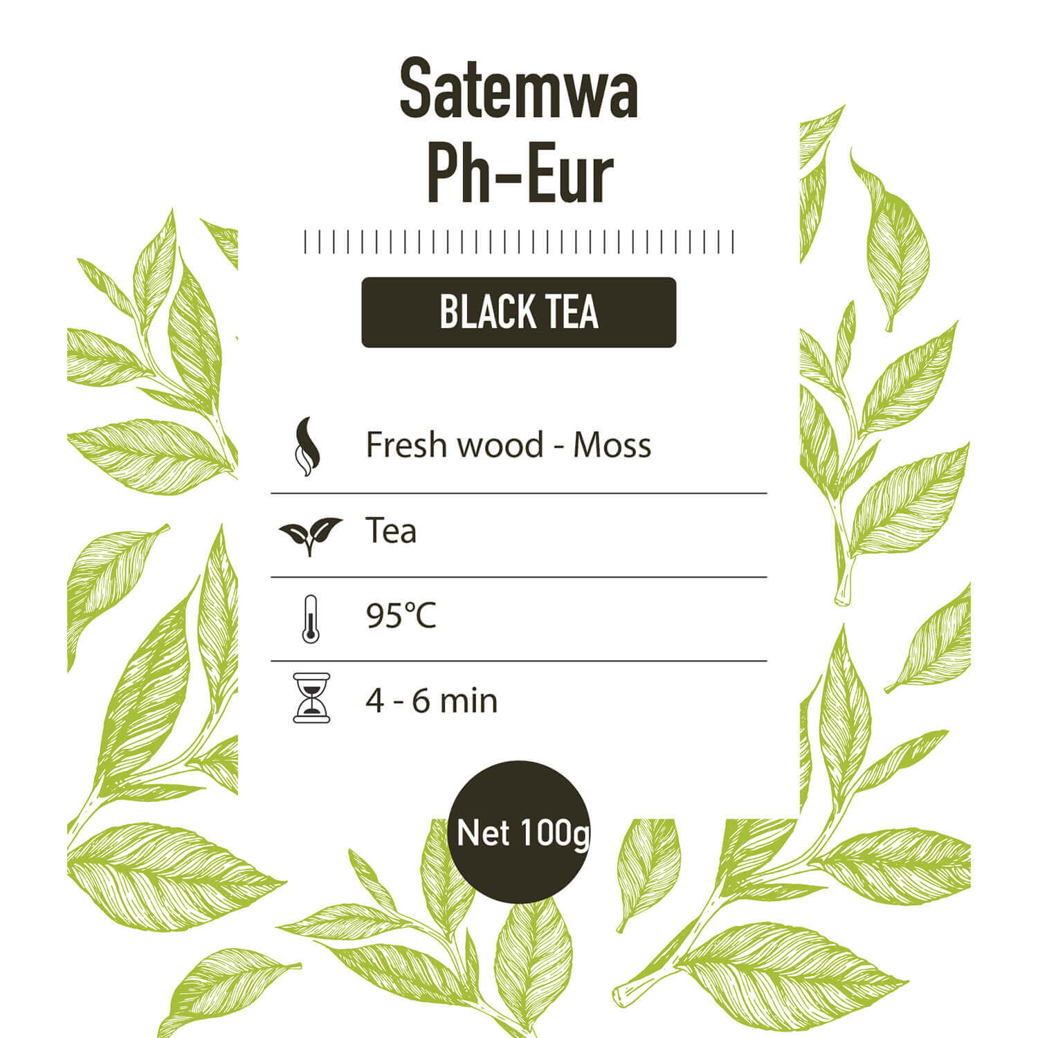 Zwarte thee – Dark Teas Ph-Eur - detail