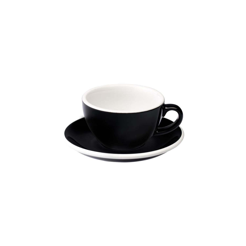 Loveramics - Egg - Flat White Cup - Zwart