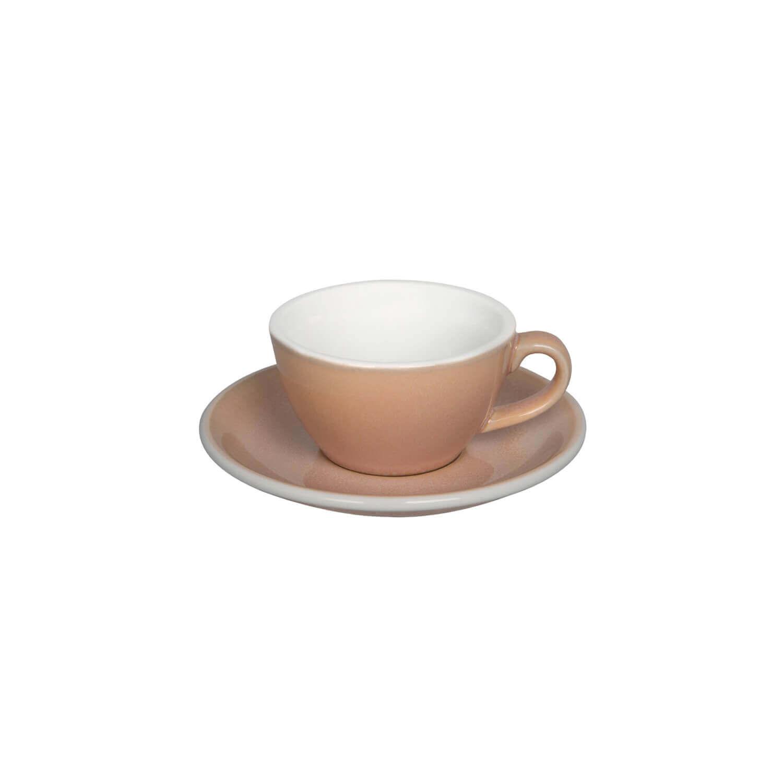 Loveramics - Egg - Flat White Cup - Rose