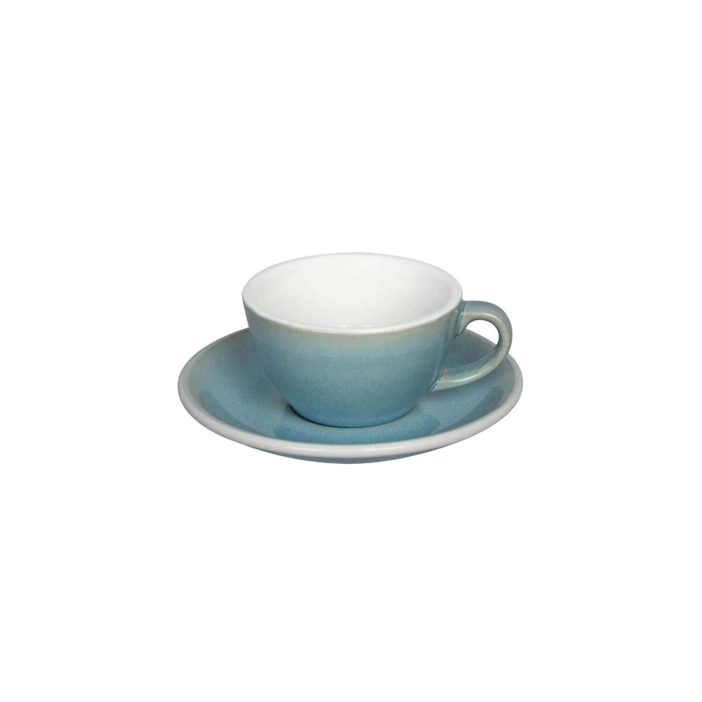 Loveramics - Egg - Flat White Cup - Ice Blue